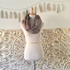 Anthropologie Metallic Threaded Infinity Scarf